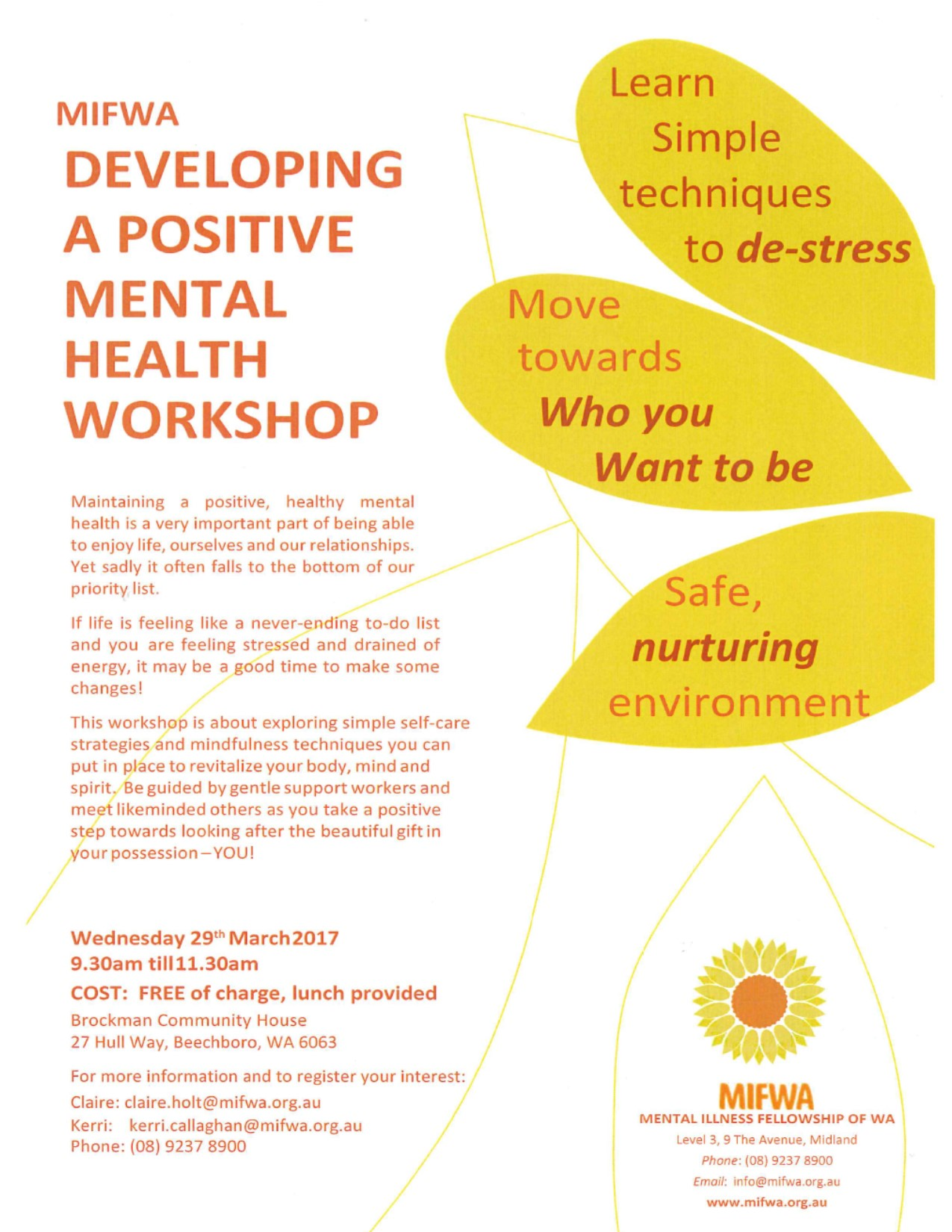 Mental Health Workshop