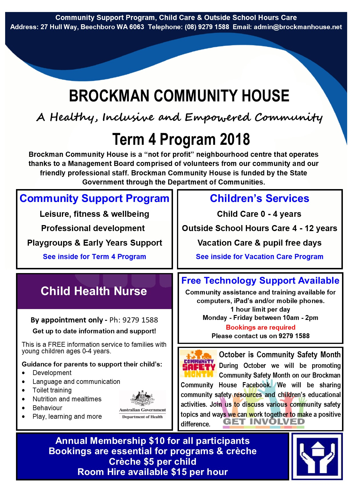Brockman Community House Healthy Inclusive And Empowered